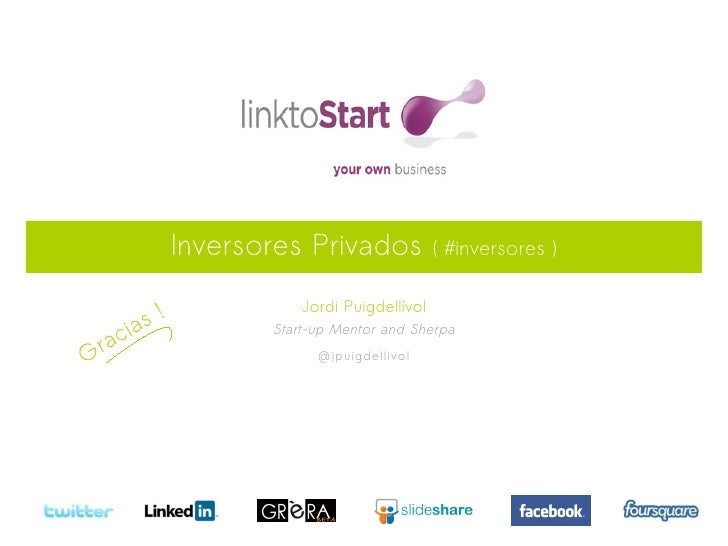 Inversores Privados             ( #inversores )       s!                       Jordi Puigdellívol raci a            Start-...