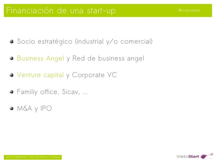 Financiación de una start-up                            #inversores         Socio estratégico (industrial y/o comercial)  ...