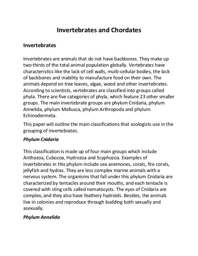 invertebrate essay question Quizzes animal invertebrate overview of invertebrates chapter 27---essay questions overview of invertebrates chapter 27 define invertebrate 2.