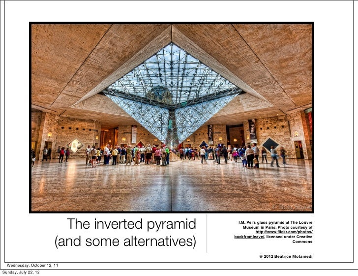 The inverted pyramid      I.M. Pei's glass pyramid at The Louvre                                                        Mu...