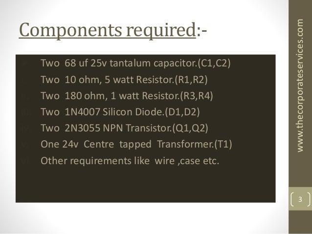 500w Power Inverter Circuit Using Transistor 2n3055