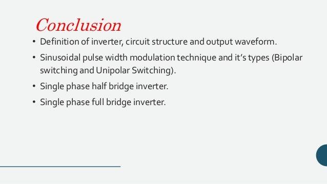 Inverter circuits