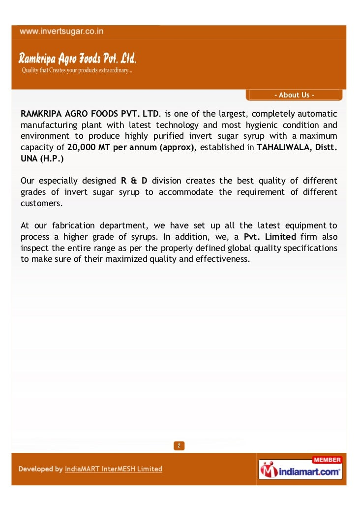 Ramkripa Agro Foods Private Limited, New Delhi, Food Grade