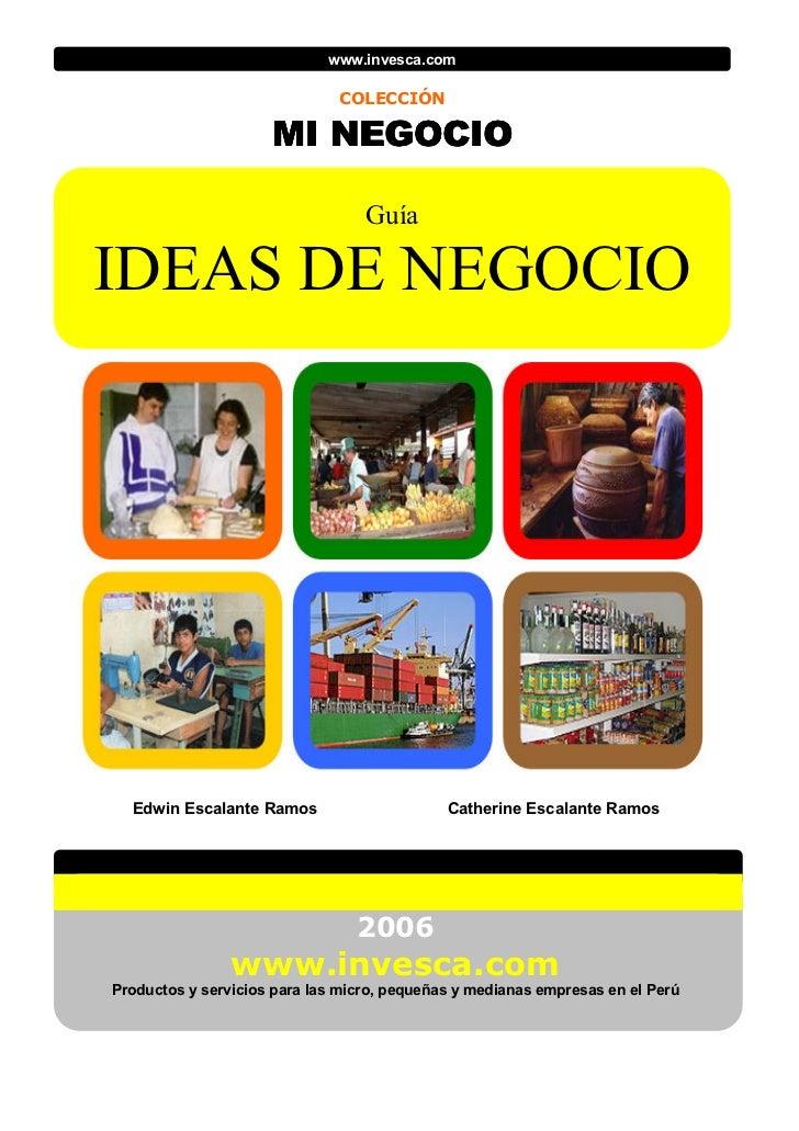 www.invesca.com                              COLECCIÓN                     MI NEGOCIO                             MI NEGOC...