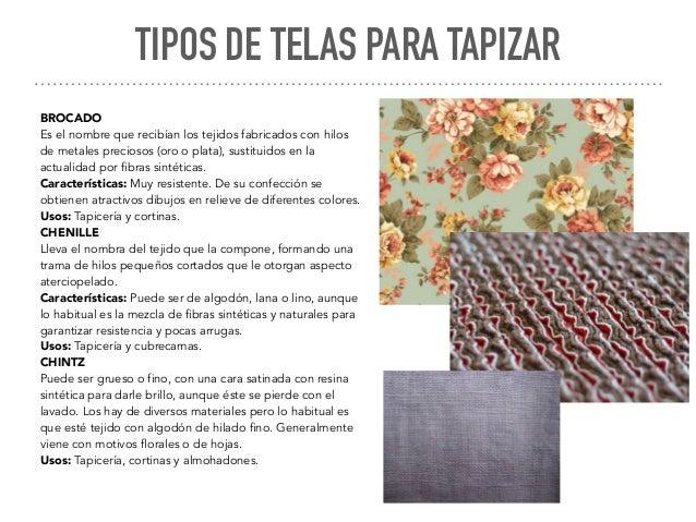 para tapizar tipos de telas