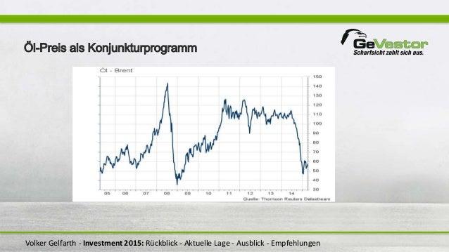 Volker Gelfarth - Investment 2015: Rückblick - Aktuelle Lage - Ausblick - Empfehlungen Öl-Preis als Konjunkturprogramm