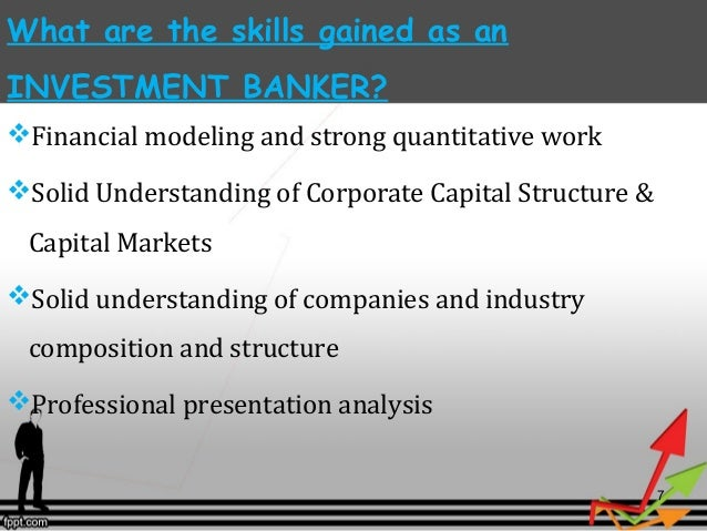 how to make career in investment banking