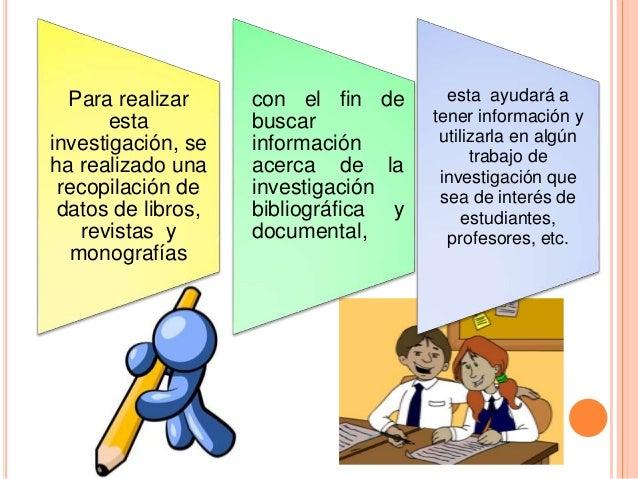 Los métodos de información bibliográfica para la investigación son aquellos que permitirán al usuario utilizar la informac...