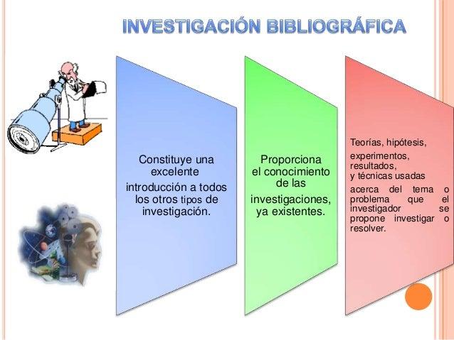 Constituye una excelente introducción a todos los otros tipos de investigación. Proporciona el conocimiento de las investi...