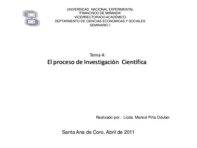 """UNIVERSIDAD NACIONAL EXPERIMENTAL """"FRANCISCO DE MIRANDA"""" VICERRECTORADO ACADÉMICO DEPTARMENTO DE CIENCIAS ECONOMICAS Y SOC..."""
