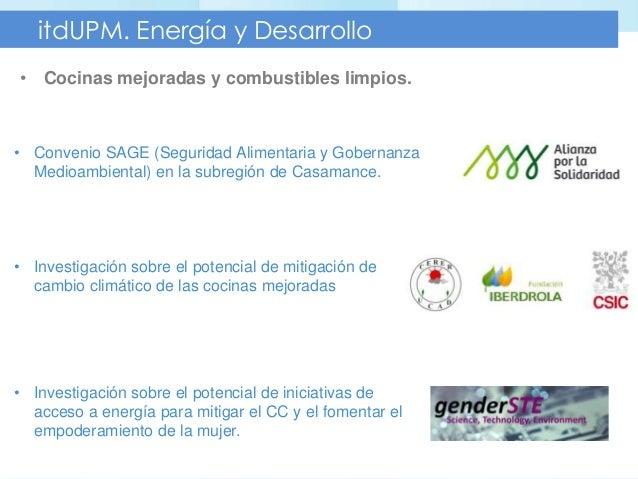 Investigaci n en energ a y desarrollo en el itdupm for Cocina de investigacion