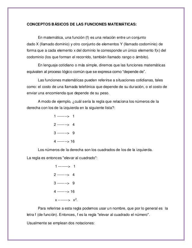 Funciones [Lineales, Cuadráticas, Polinomiales, Racionales, Exponenci…