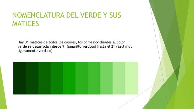 El color verde for Gama de colores verdes