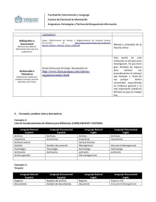 -archivistico-2 Bibliográfica o Documental (Recursos que ofrecen Información acerca de una publicación) López. (2010).manu...