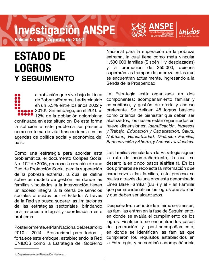 Investigación ANSPEBoletín No. 001 / Agosto de 2012ESTADO DE                                                     Nacional ...