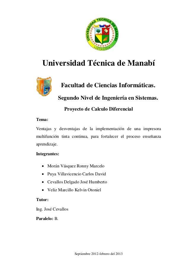 Universidad Técnica de Manabí                Facultad de Ciencias Informáticas.               Segundo Nivel de Ingeniería ...
