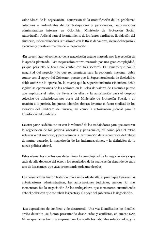 valor básico de la negociación, concreción de la cuantificación de los problemascolectivos e individuales de los trabajado...