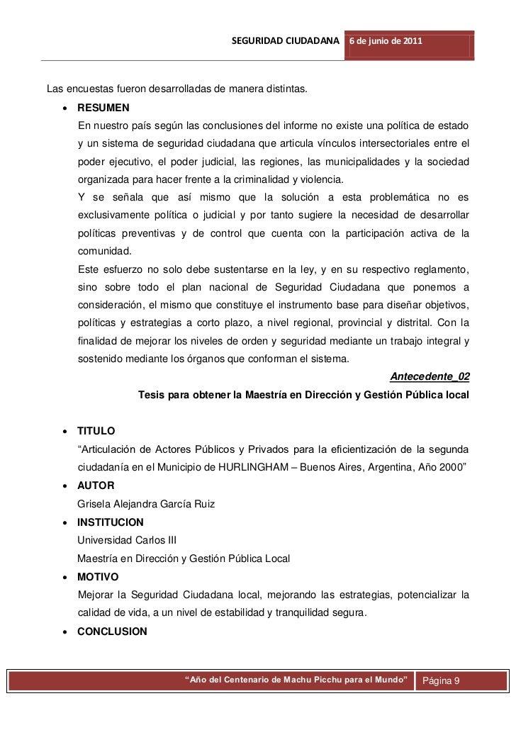 Investigacion Seguridad Ciudadana Villa Maria Del Triunfo