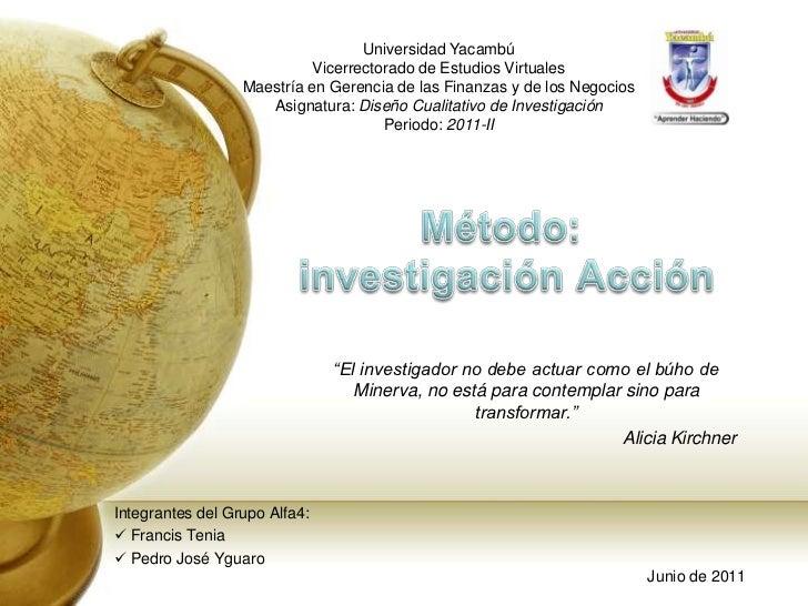 Universidad Yacambú<br />Vicerrectorado de Estudios Virtuales<br />Maestría en Gerencia de las Finanzas y de los Negocios<...