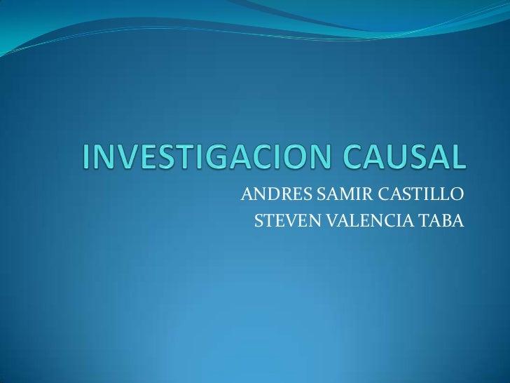 ANDRES SAMIR CASTILLO STEVEN VALENCIA TABA
