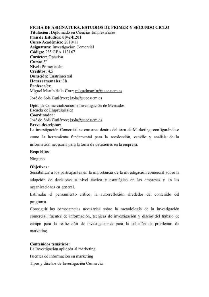 FICHA DE ASIGNATURA. ESTUDIOS DE PRIMER Y SEGUNDO CICLOTitulación: Diplomado en Ciencias EmpresarialesPlan de Estudios: 00...