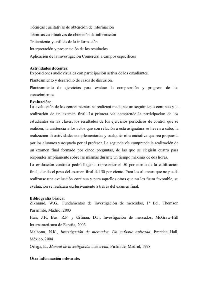 Técnicas cualitativas de obtención de informaciónTécnicas cuantitativas de obtención de informaciónTratamiento y análisis ...