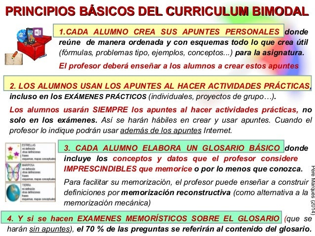 ESO: más éxito escolar aplicando el curriculum bimodal Slide 3