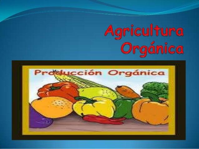 """¿Qué es la Agricultura Orgánica? Definición de la OMS/FAO """"La agricultura orgánica es un sistema global de gestión de prod..."""