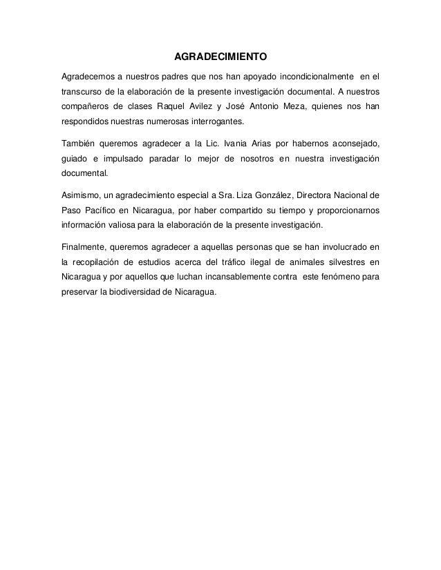 Causas socio-culturales y económicas y consecuencias ecológicas del trafico ilegal de animales silvestres en Nicaragua Slide 3