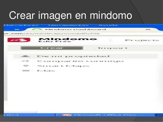 Crear imagen en mindomo