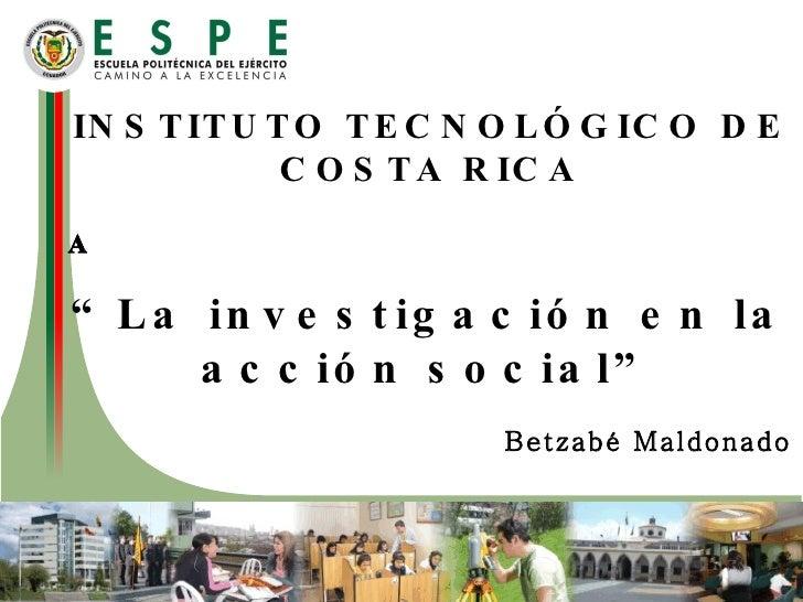 Investigacion en la accion social