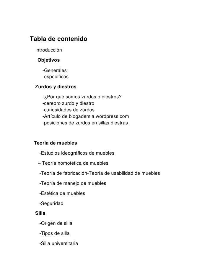 Investigacion proyecto individual por jorge brieva a riza for Sillas para zurdos