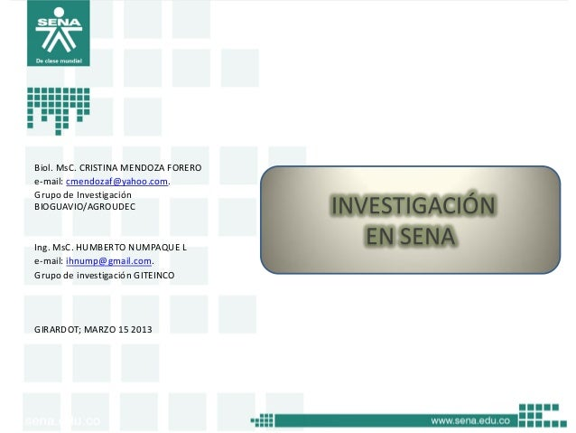 Biol. MsC. CRISTINA MENDOZA FORERO e-mail: cmendozaf@yahoo.com. Grupo de Investigación BIOGUAVIO/AGROUDEC  Ing. MsC. HUMBE...