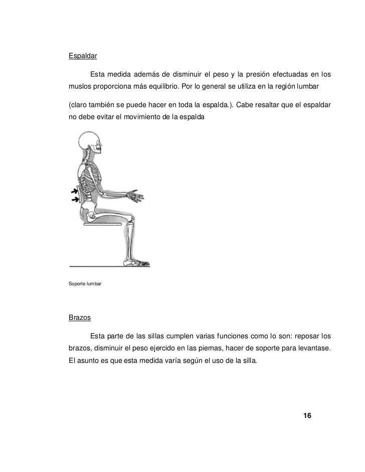 Investigacion silla final for Sillas para zurdos