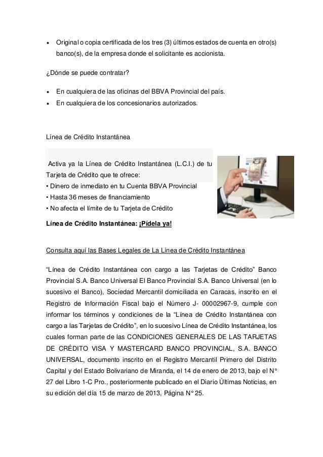 Bbva banco provincial consulta de saldo de tarjeta de for Banco de venezuela consulta de saldo