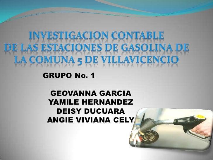 GRUPO No. 1 GEOVANNA GARCIAYAMILE HERNANDEZ  DEISY DUCUARAANGIE VIVIANA CELY