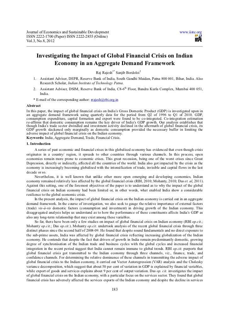 Journal of Economics and Sustainable Development                                                        www.iiste.orgISSN ...