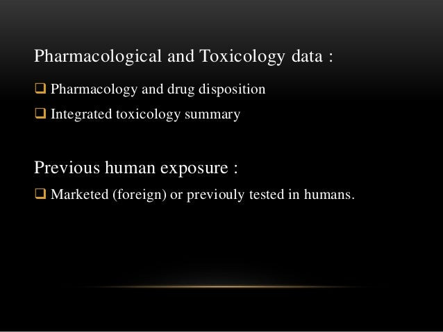 Statement of purpose for toxicology