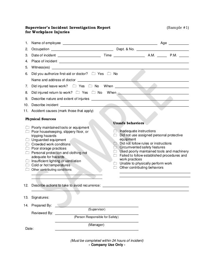Incident Investigation Report Form Template Wordpress Themes – Homicide Report Template