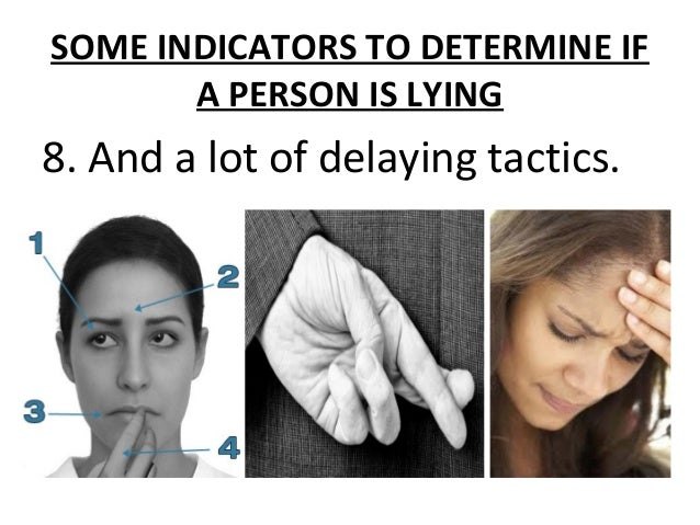 """• During investigations, the investigator usually asks, in cases of theft, robbery, murder, homicide or the like, """"DID YOU..."""