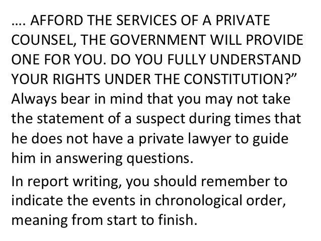 MIRANDA RIGHTS • The Miranda warning (also referred to as Miranda rights) is a warning given by police in the United State...