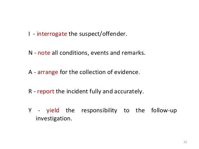 Incident / Complaint type investigation 54