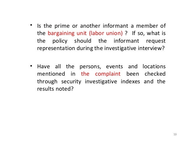 SEQUENCE OF INVESTIGATIVE LEADS Subject to the circumstances of the situation, the following general rules can be establis...