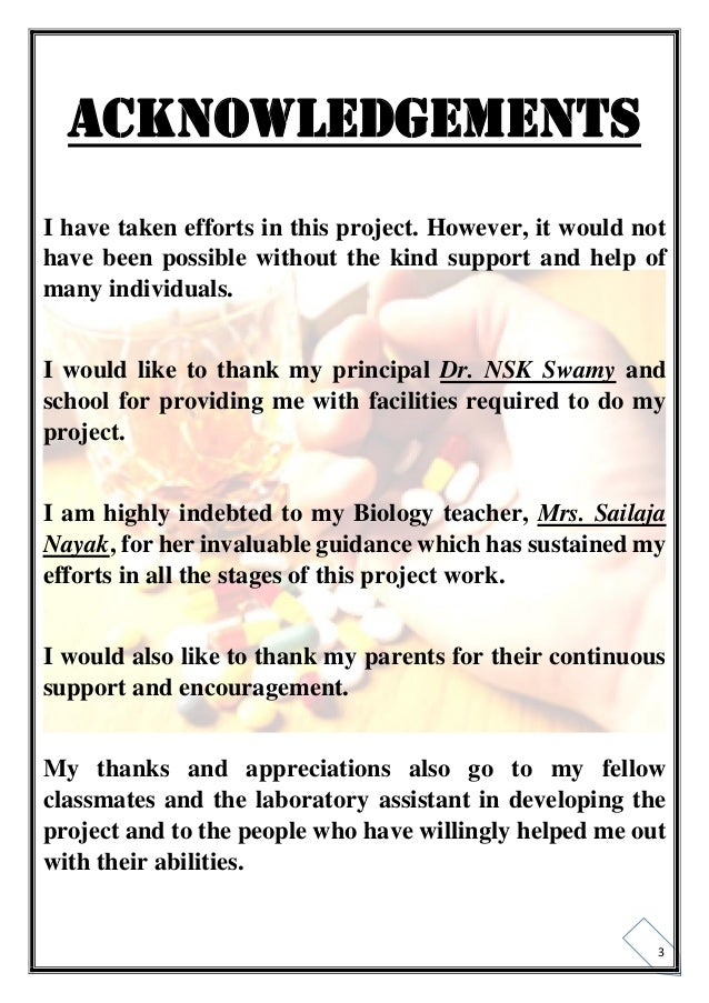 Class 12 biology investigatory project cbse for Do my project