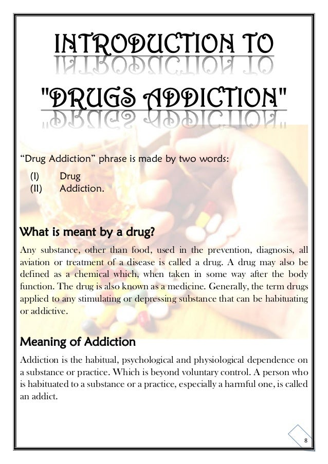 summary and conclusion of drug addiction