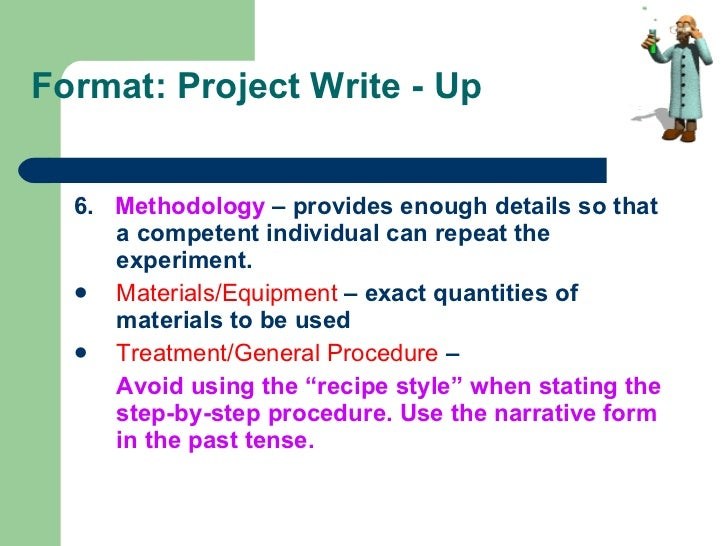 "investigatory project with complete write ups Requirements for the investigatory projects i content the project write-up must be typewritten double-spaced in short bond paper (8""x11""."