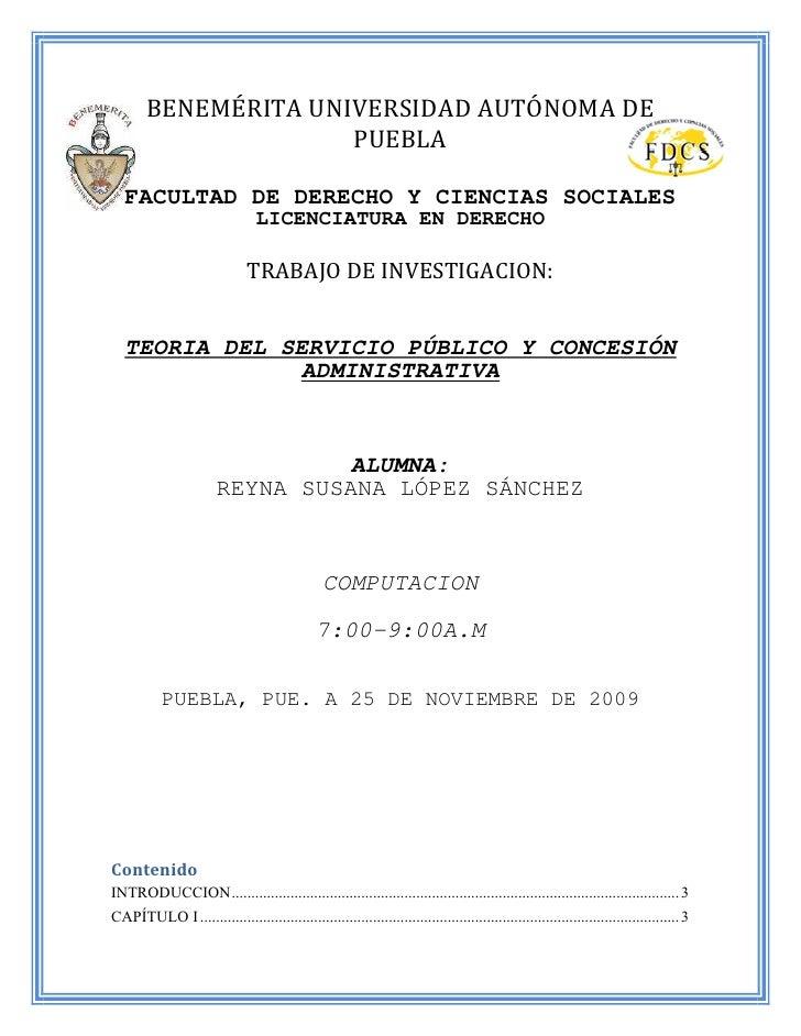 BENEMÉRITA UNIVERSIDAD AUTÓNOMA DE                       PUEBLA     FACULTAD DE DERECHO Y CIENCIAS SOCIALES               ...