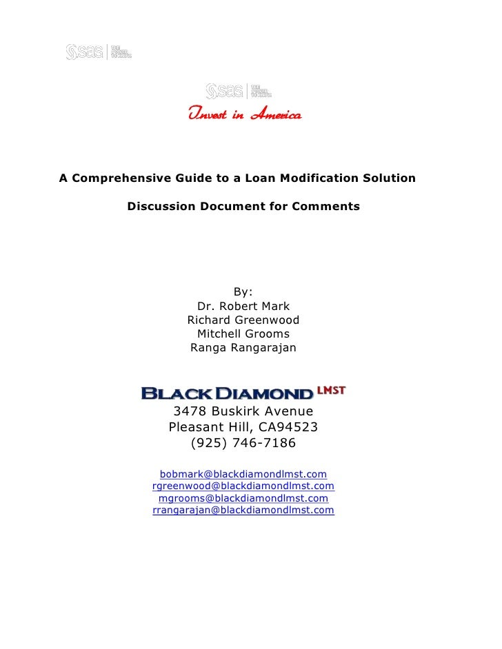 11493543815<br />228600040005<br />Invest in America <br /> A Comprehensive Guide to a Loan Modification Solution<br />Dis...