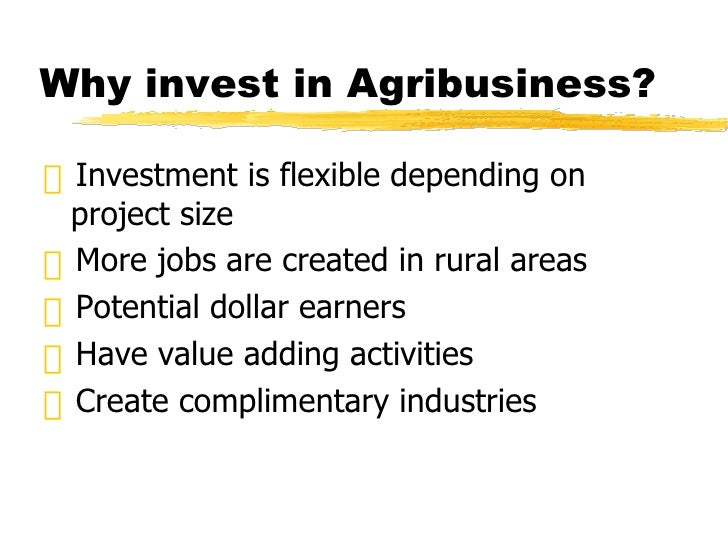 Investing in Agribusiness (Pamumuhunan sa Agribusiness)