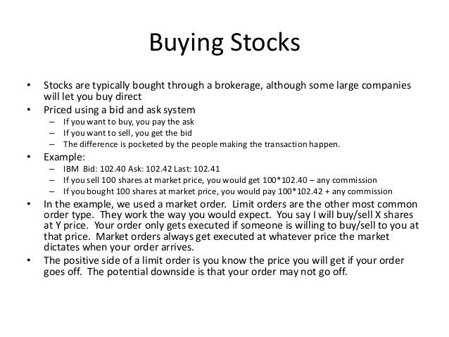 A beginners guide to investing in the stock market.